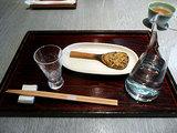 冷酒と焼き味噌